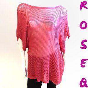 Reitmans salmon pink boat neckline tunic